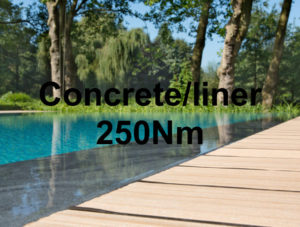 250Nm - concrete/liner pool